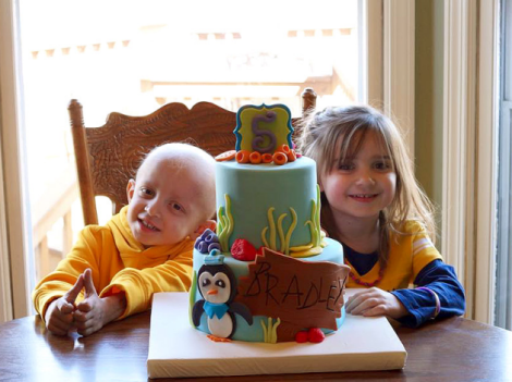 After her twin brother Bradley was diagnosed with leukemia, Charlie bravely donated her stem cells to save his life.